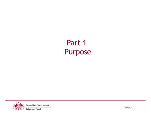 Slide 3 - Purpose