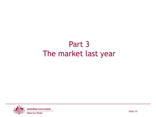 Slide 10 - The market last year