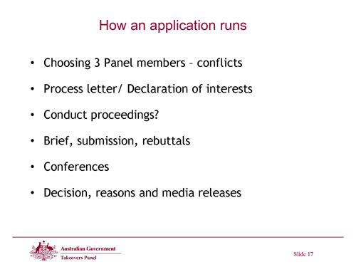Slide 17 - How an application runs