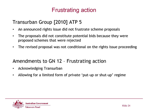 Slide 24 - Frustrating Action